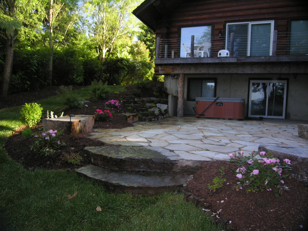 Turfcare Landscaping Sandpoint Natural Rock Path U0026 Patio ...