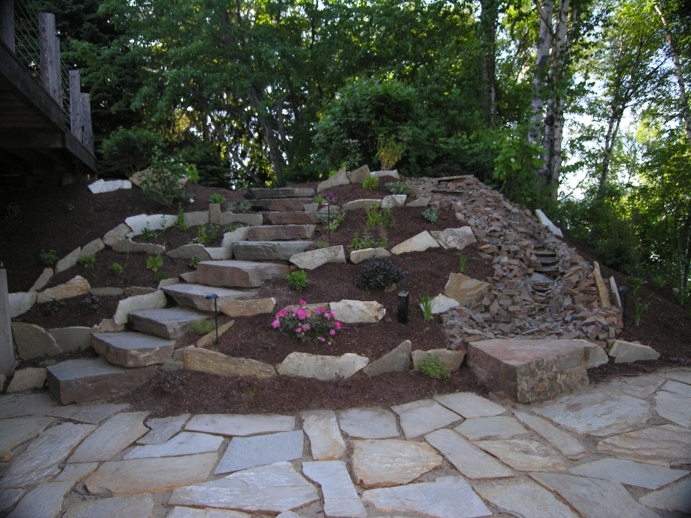 Charming Turfcare Landscaping Sandpoint Natural Rock Path U0026 Patio ...
